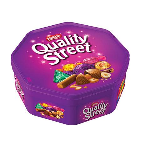 Image of quality street chocolates tub