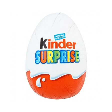 Image of Kinder Surprise Egg - UK chocolate for delivered worldwide