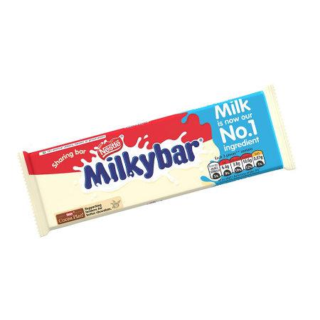 Image of Nestle Milky Bar White Chocolate Bar 100g