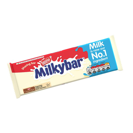 Image of Nestle Milky Bar White Chocolate Bar 100g