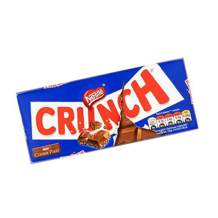 Image of nestle crunch chocolate bar 100g
