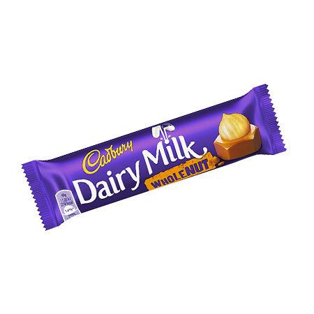 Image of Cadburys Dairy Milk Whole Nut Chocolate Bar