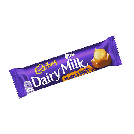 Image of Cadburys Dairy Milk Whole Nut Chocolate Bar